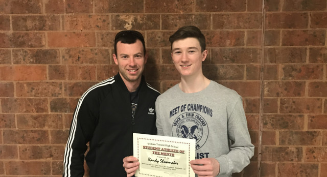 Congratulations Randy Showmaker – February 2017 Student Athlete of the Month