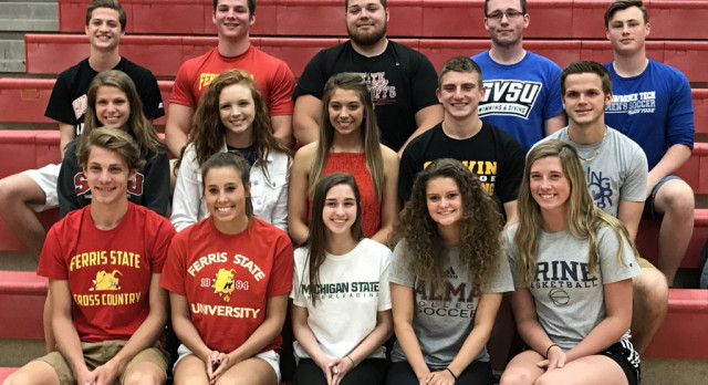 Class of 2017 College Athletes!