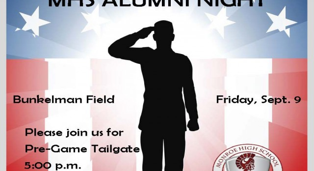 Monroe Trojan Football Honors our Military and Alumni