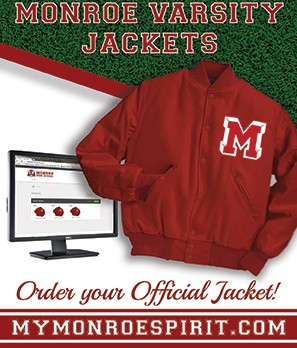 "Did you earn your Varsity Letter this season?  Get your ""Official"" Monroe Varsity Jacket."