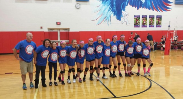 AMS Red 7th Grade VB wins AAC