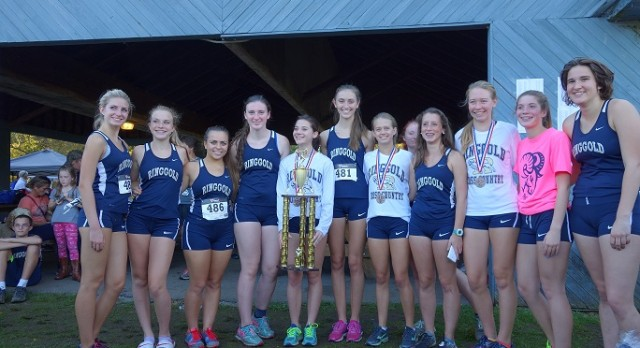 Girls Varsity Cross Country finishes 1st place in Washington County Meet