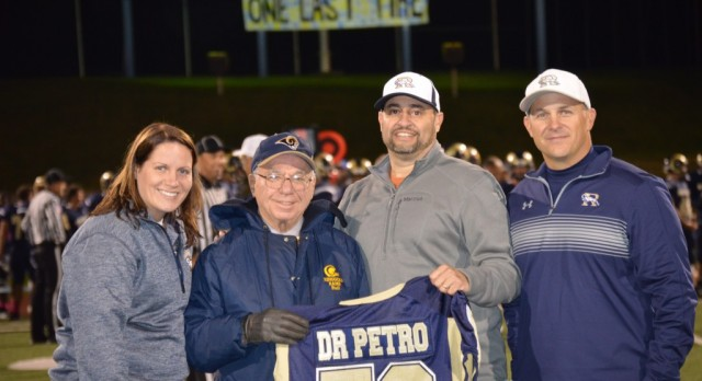 Football Honors Team Physician Dr. Petro