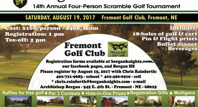 Bergan Booster Club Golf Tournament – 8/19/17
