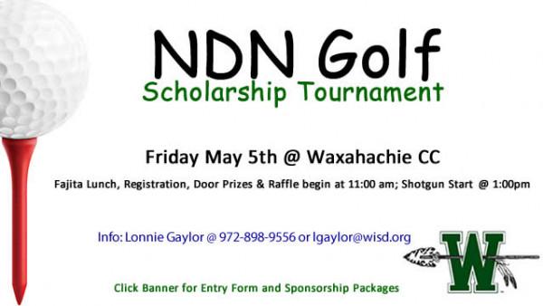 NDNGolf Tournament Banner