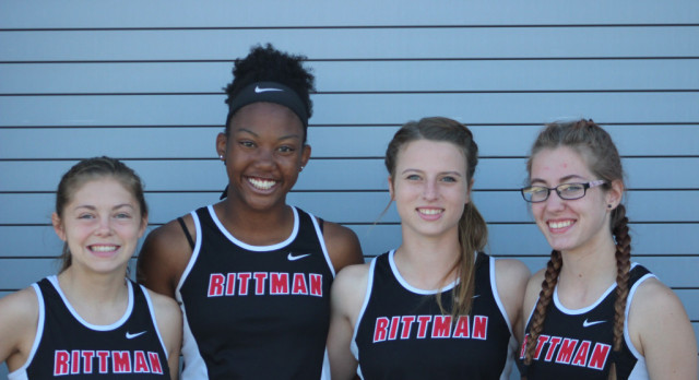 RHS Girls 4×100 place 5th at State