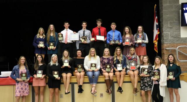RHS Fall Sports Banquet Award Winners