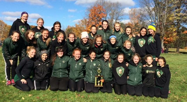 Traverse City West High School Girls Varsity Cross Country finishes 3rd place
