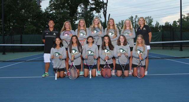 River Bluff High School Girls Varsity Tennis beat Cardinal Newman School 5-1