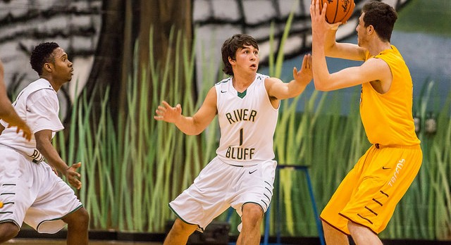 River Bluff High School Boys Varsity Basketball falls to North Augusta High School 50-53