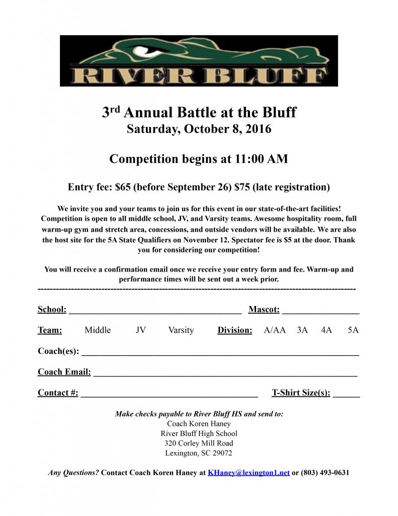 Battle at the Bluff Registration Form