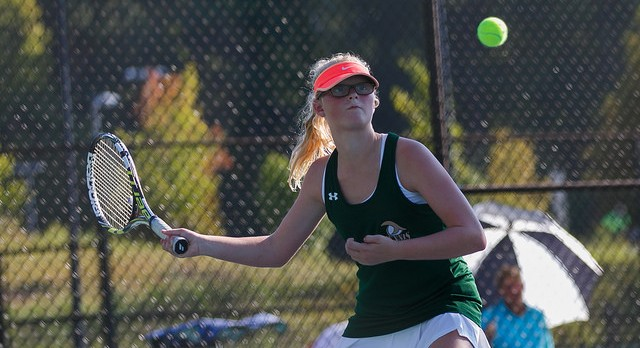 River Bluff High School Girls Varsity Tennis beat James Island Charter High School 5-1