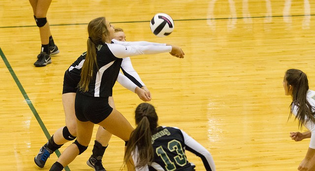 River Bluff High School Girls Varsity Volleyball beat Dutch Fork High School 3-0