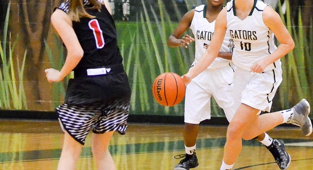 River Bluff High School Girls Varsity Basketball falls to Aiken High School 49-33