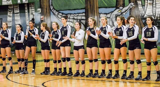 River Bluff High School Girls Varsity Volleyball falls to Wando High School 3-1