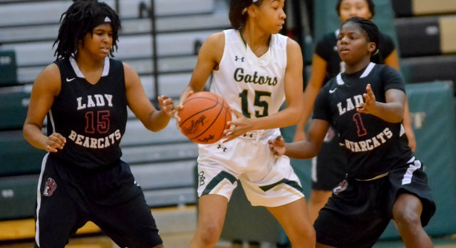 River Bluff High School Girls Varsity Basketball beat Lugoff-Elgin High 54-28