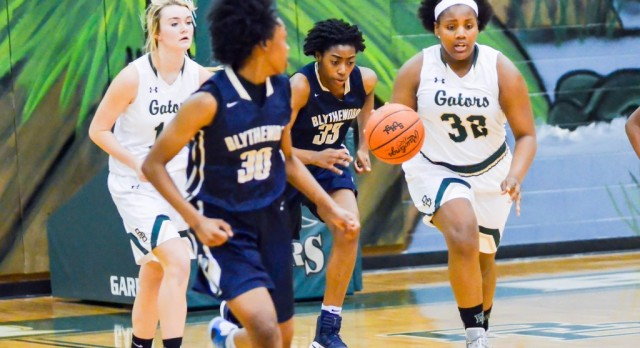River Bluff High School Girls Varsity Basketball falls to Irmo High 45-26