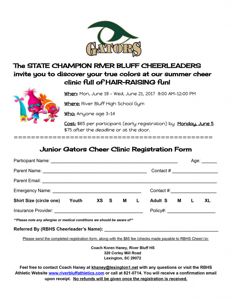 Gator Cheer Clinic 2017
