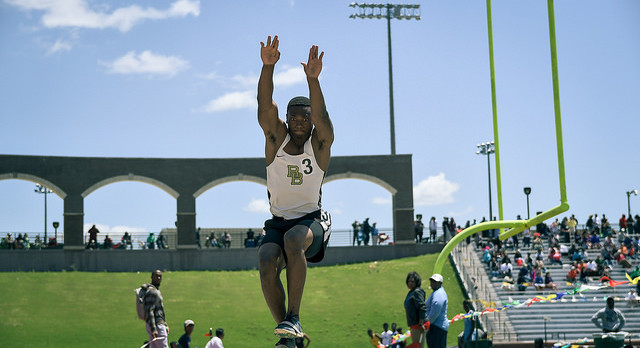 Ledell Claims State Title in Long Jump