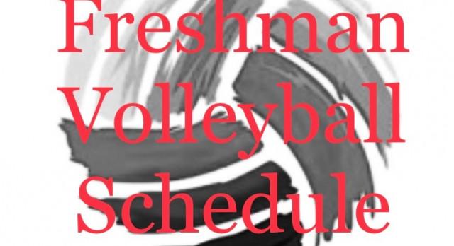 Freshman Volleyball Schedule