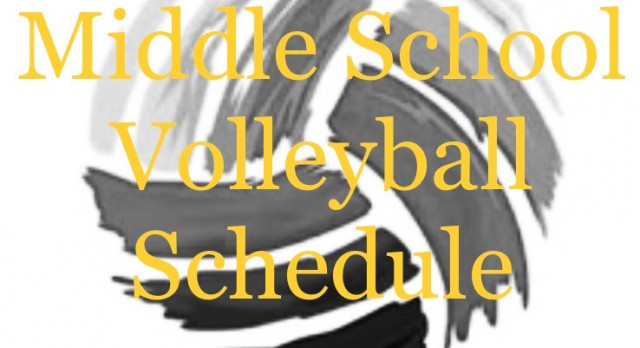 Middle School Volleyball Schedule