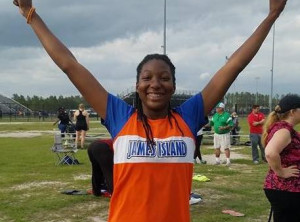 Zaria Nelson Shatters School Discus Record