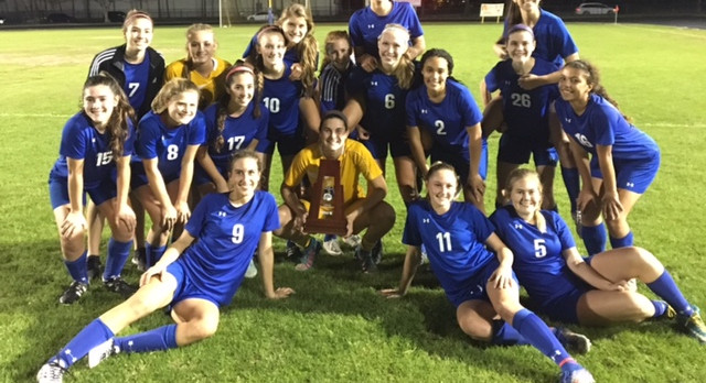 Girls Varsity Soccer Ends South Fork's Undefeated Season, Wins Title