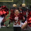 JV Cheerleaders at Football vs Kennedy HS 08Oct2016