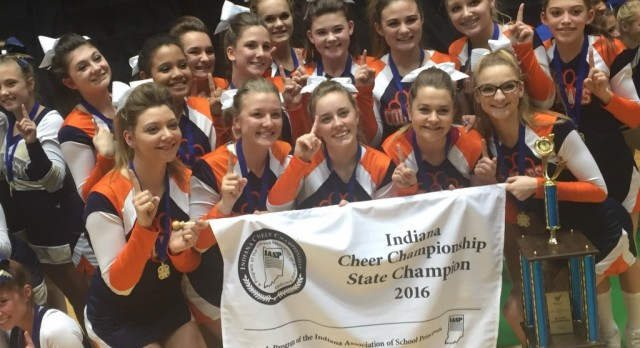 NP Cheerleaders win State