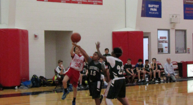 Roeper Boys Middle School/Elementary Basketball B falls to Greenhills MS 31-27