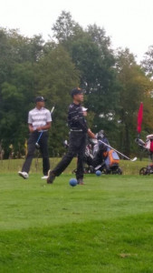Pierre tees off at OCC #4 Darby Creek