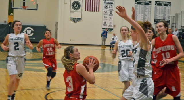 Spring Lake High School Girls Varsity Basketball beat West Catholic High School 57-54