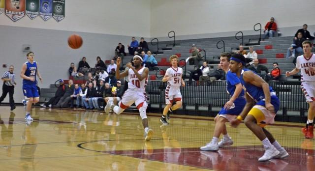 Spring Lake High School Boys Varsity Basketball falls to Grand Rapids Catholic Central High School 56-52