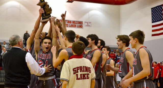 Spring Lake High School Boys Varsity Basketball beat Whitehall 56-42