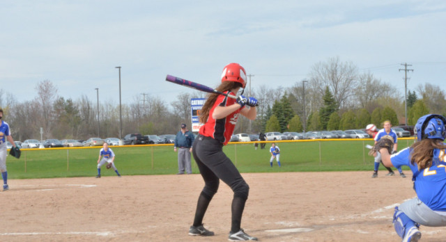 Spring Lake High School Varsity Softball beat Grand Rapids Catholic Central High School 15-0
