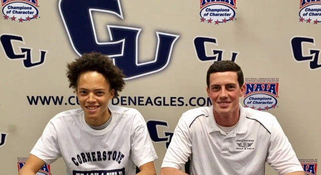 Justice Long Signs with Cornerstone University