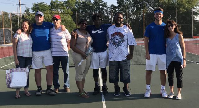 Blazer Tennis Blanks Andrean on Senior Day