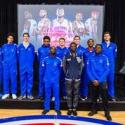 Boys Varsity Basketball Having Fun With Piston's Players