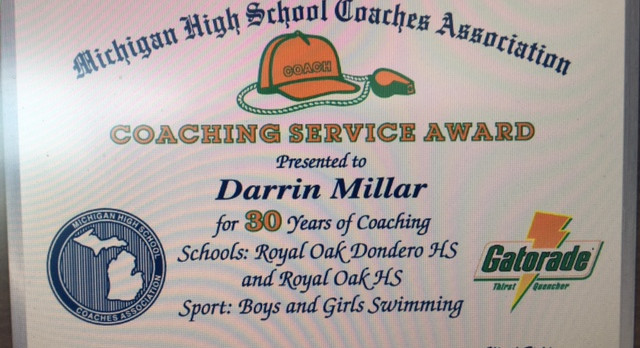 Congratulations Coach Millar: 30 years of Excellence!