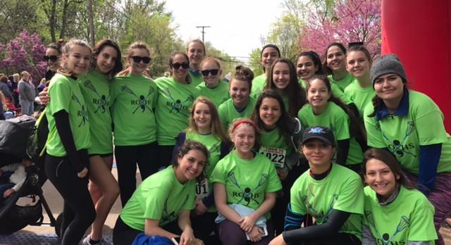 Girls Varsity Lacrosse supports the RO Community!