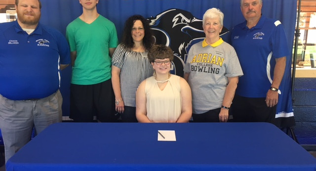 Former ROHS Bowler Kayla McClain Clark signs with Adrian College!