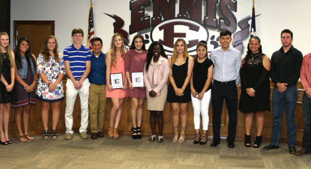 Academic All-State Athletes Recognized at School Board Meeting