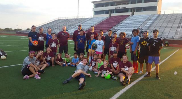 Lions Soccer Hold Camp