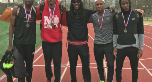 Banneker Trojans boys track team.