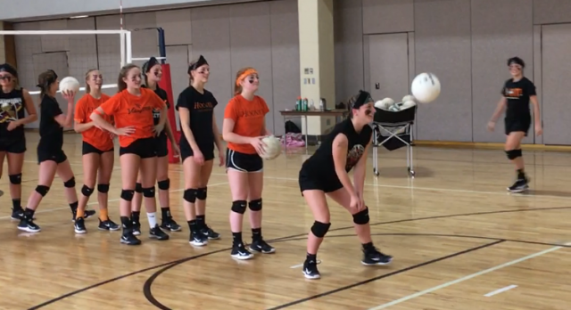 Varsity Volleyball First Annual Black vs Orange Civil War