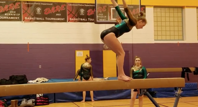 STVM Gymnast Cecelia Walter Advances to State!