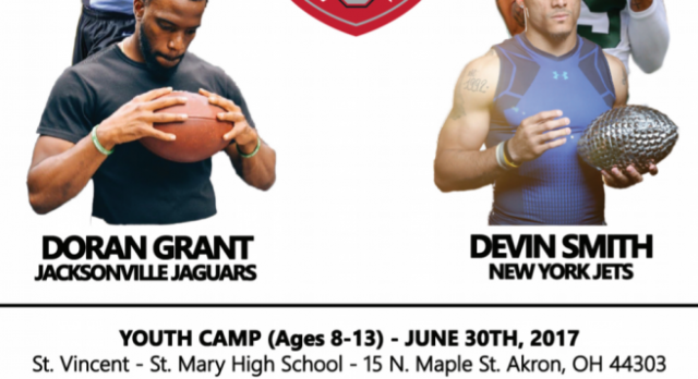 DORAN GRANT VM11- Current Jacksonville Jaguars Player and Ohio State National Champ Comes to STVM for a Football Camp this Summer!