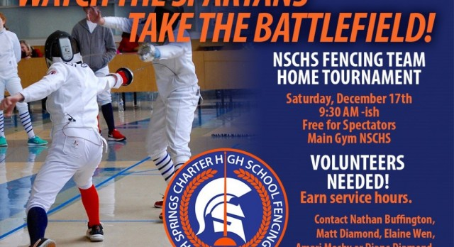 Fencing Tournament – Saturday, December 17th