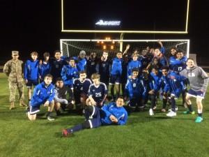 Boys Soccer 1st win 2017