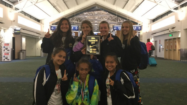 2017 Girls Cross Country 1st Place Portland
